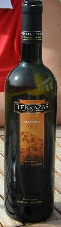 Alto Malbec ( Terrazas de Los Andes ) 2003