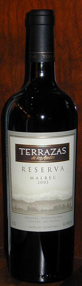 Malbec Reserva Terrazas De Los Andes 2009 Winesworld Net