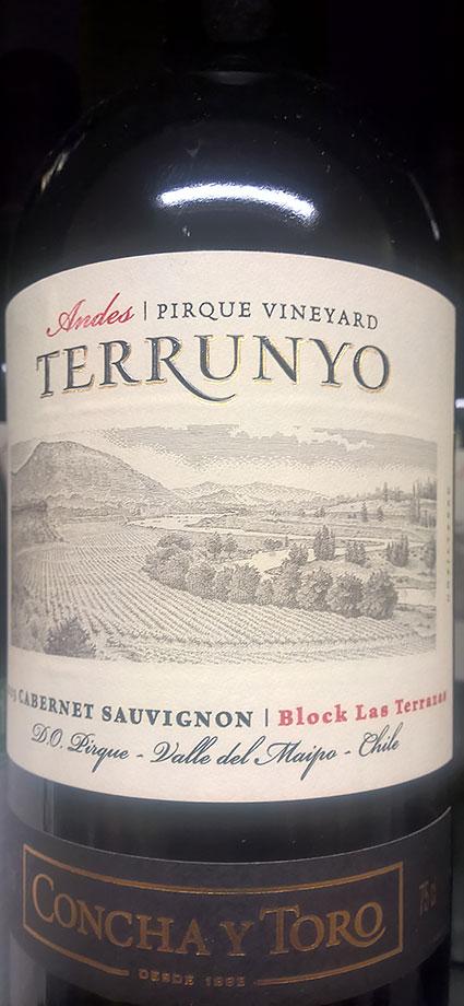Terrunyo Cabernet Sauvignon ( Concha y Toro ) 2015