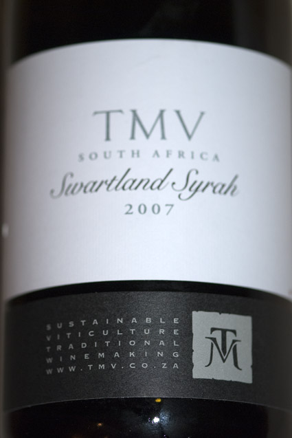 TMV Swartland Syrah ( Tulbagh Winery ) 2007