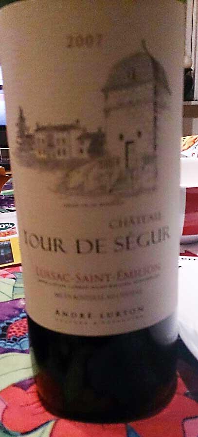 Château Tour de Ségur Red ( André Lurton ) 2007