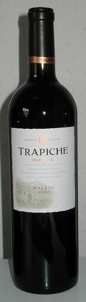 Malbec Oak Cask ( Trapiche ) 2008