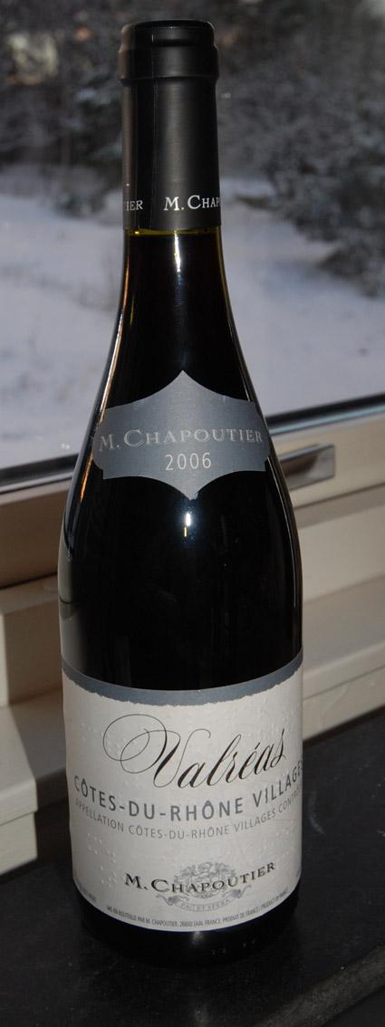 Côtes du Rhône Villages Valréas ( M.Chapoutier ) 2006