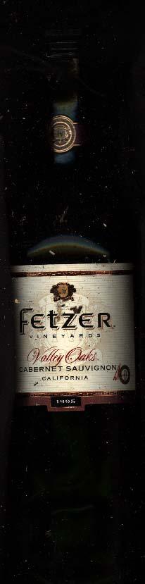 Valley Oaks Carbernet ( Fetzer Vineyards ) 1995