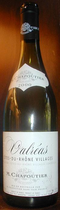 Côtes du Rhône Villages Valréas ( M.Chapoutier ) 2000