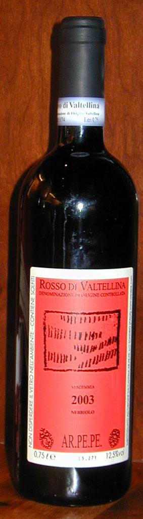 Rosso de Valtellina ( Cant. ar.Pe.Pe ) 2016
