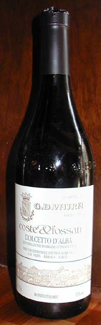 Dolcetto d`alba Coste and Fossati ( Vajra ) 2001