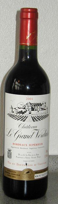 Chateau le Grand Verdus ( Philippe et Antoine Le Grix de la Salle ) 2006
