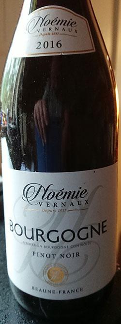 Bourgogne Rouge ( Noemie Vernaux ) 2016