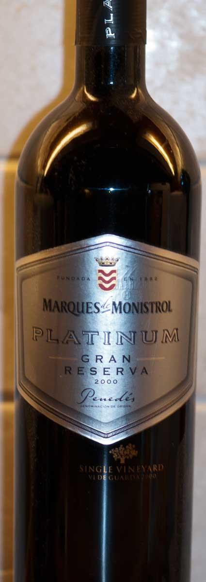 Platinum Gran Reserva ( Marqués de Monistrol ) 2000