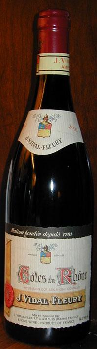 Côtes du Rhône ( Vidal-Fleury ) 2001