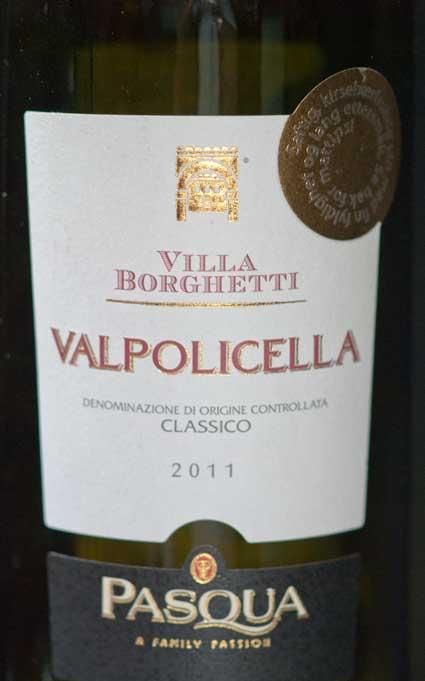 Valpolicella Classico Villa Borghetti ( Pasqua ) 2016