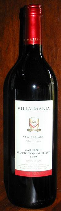 Private Bin Cabernet Sauvignon/Merlot ( Villa Maria Estate ) 1999