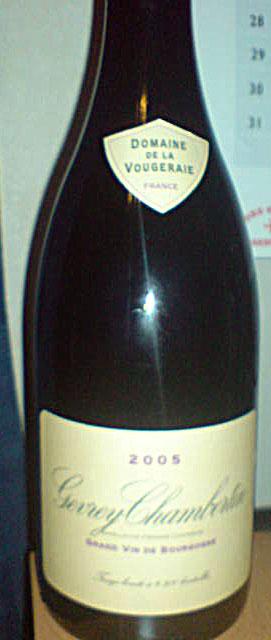 Gevrey-Chambertin ( Domaine de la Vougeraie ) 2005