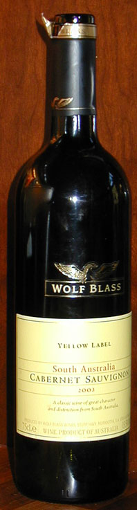Yellow Label Cabernet Sauvignon ( Wolf Blass ) 2003