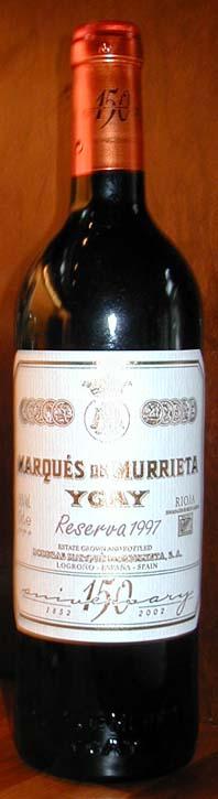 Lagareta Reserva Especial ( Marqués de Murrieta ) 1997