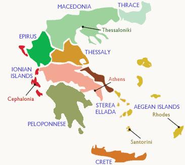 Wine regions + map